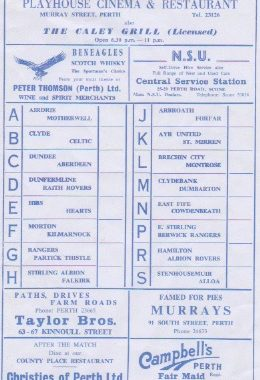 Murrays St Johnstone Programme