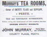 Murrays Tea Room Advert