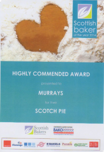 Highly Commended Award - Scotch Pie 2014