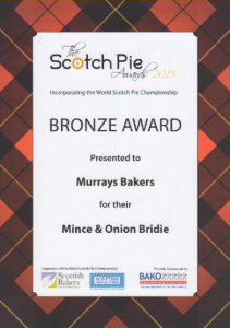 Scotch Pie Awards - Mince and Onion Bridie 2015