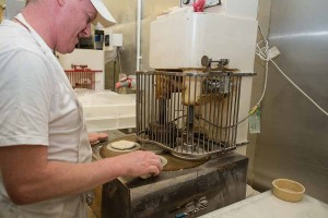Murrays Bakers - Time to put the dough through the pie machine