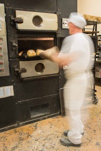 Murrays Bakers - Time for the baker to take the pies out