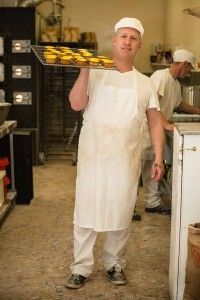Murrays Bakery - And here is the first tray of Pineapple cakes on their way to the shop